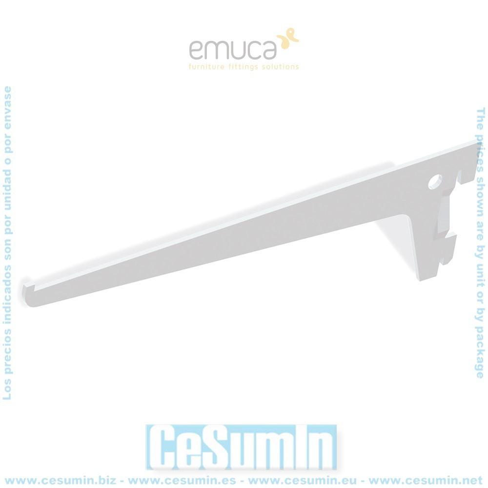 EMUCA 7915612 - Soporte de estante Jagmet de largo 250 mm para perfil de ranura simple y paso 50mm