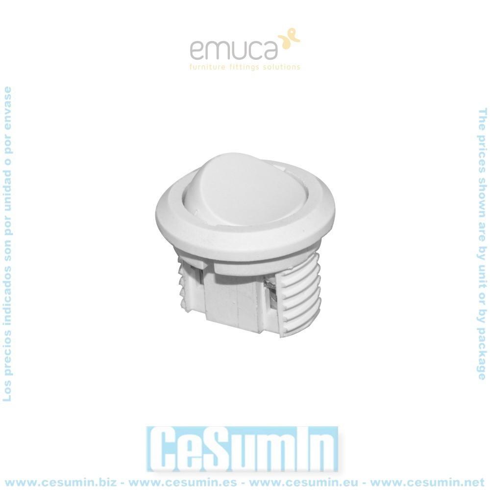 EMUCA 9638115 - Interruptor de empotrar en plástico blanco