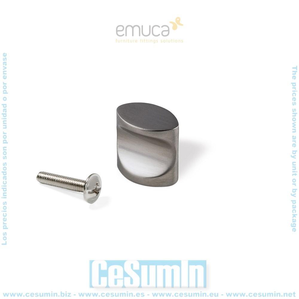 EMUCA 9299551 - Pomo para mueble Santiago en zamak acabado níquel satinado