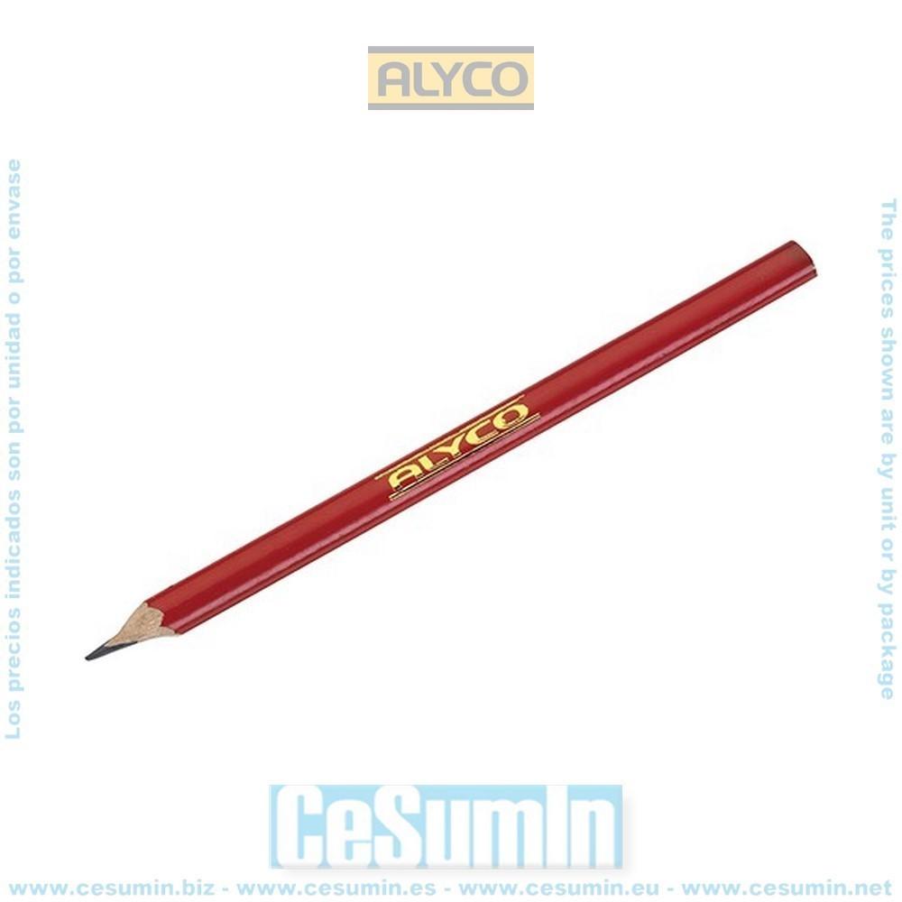 ALYCO 149050 - Lapiz de madera profesional para construccion 175 mm