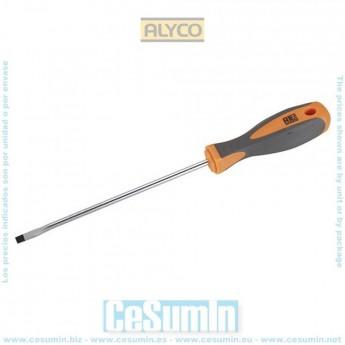 ALYCO 170413 - Destornillador boca recta HR High Resistance DIN 5265 mango bimaterial 3x0.5x100 mm