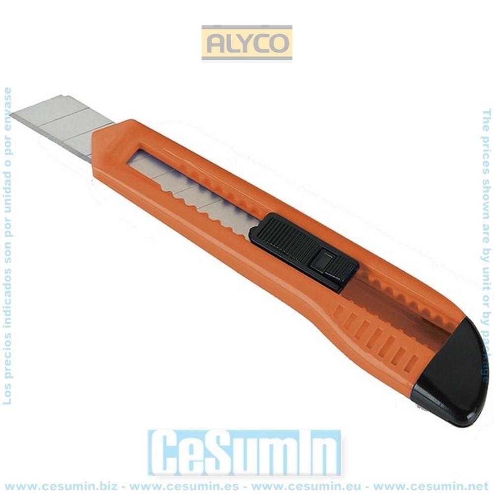 ALYCO 195625 - Cutter HR de 18 mm guia metalica cuerpo de plastico