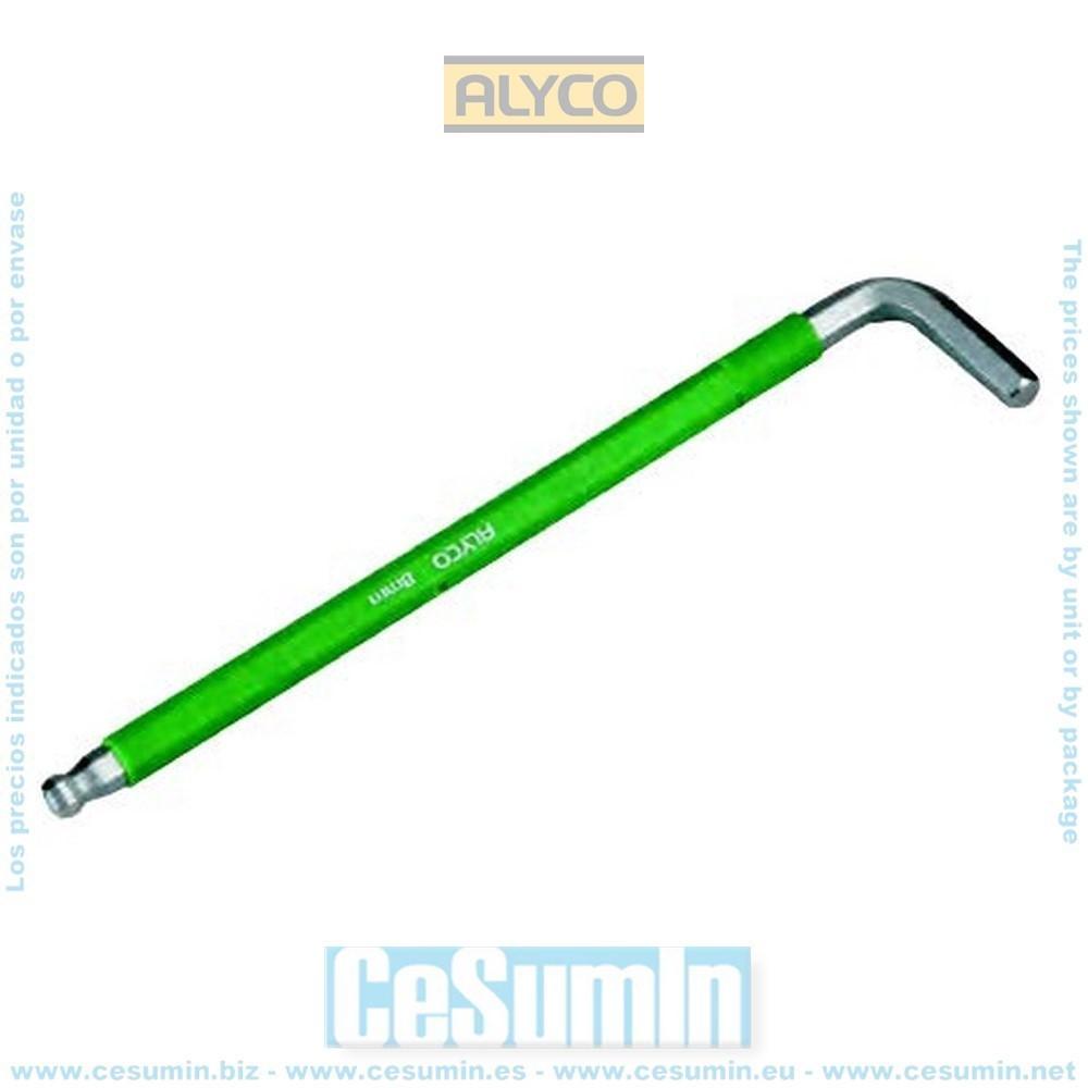 ALYCO 193173 - Llave allen de bola multicolor 3 mm