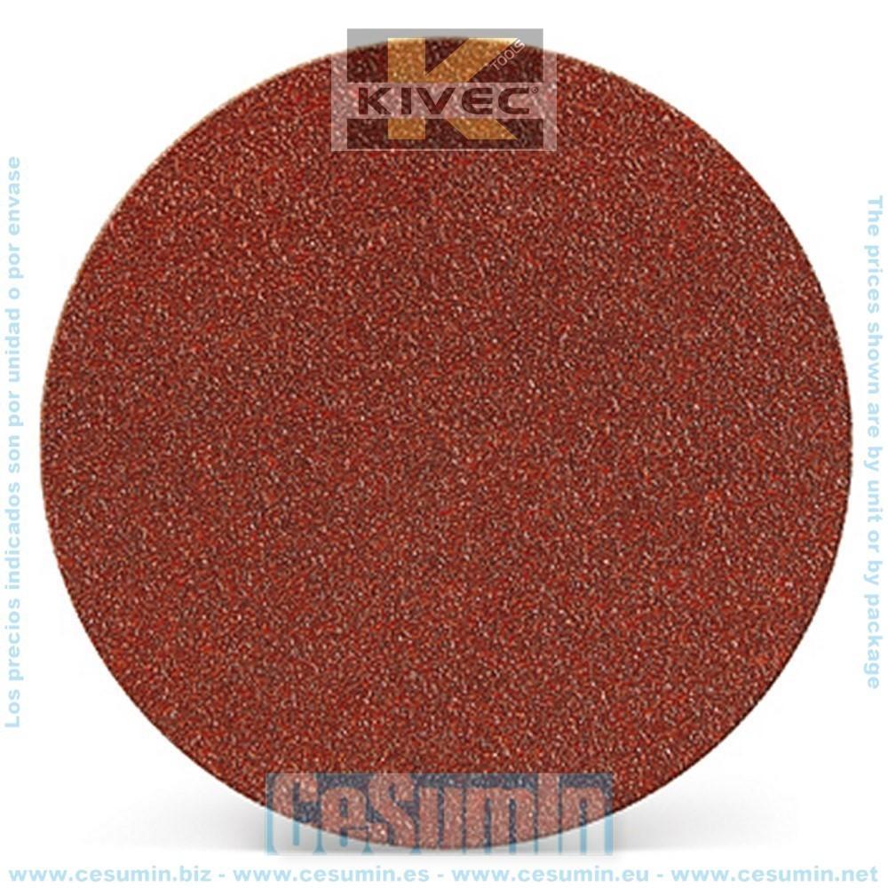 KIVEC IMP3153 - Disco abrasivo para lijadora diametro 115 mm grano 80 con velcro Ciego Env. de 6 Uds.