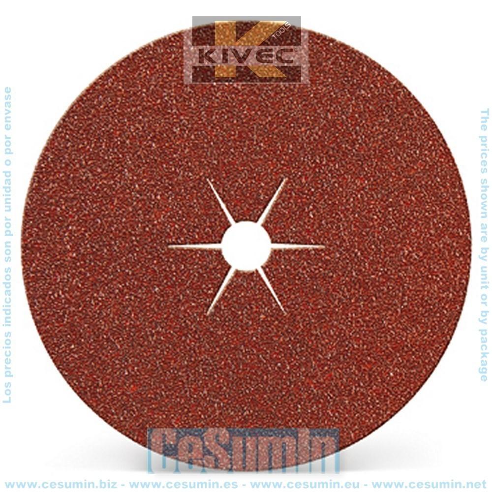 KIVEC IMP3164 - Disco abrasivo para lijadora diametro 127 mm grano 80. Agujero central Env. de 10 Uds.