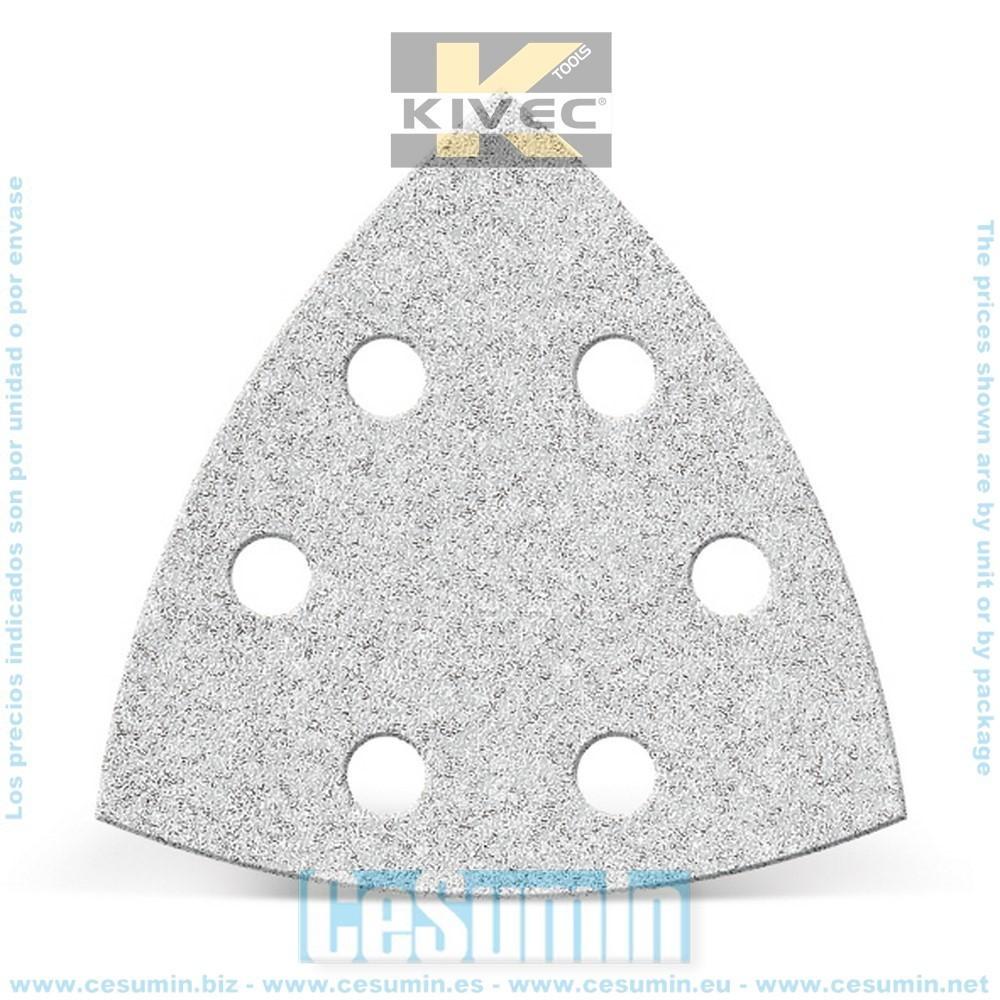 KIVEC IMP3146 - Lija abrasiva para lijadora 94 mm auto lubricante grano 120 con velcro 6 agujeros Env. de 6 Uds.