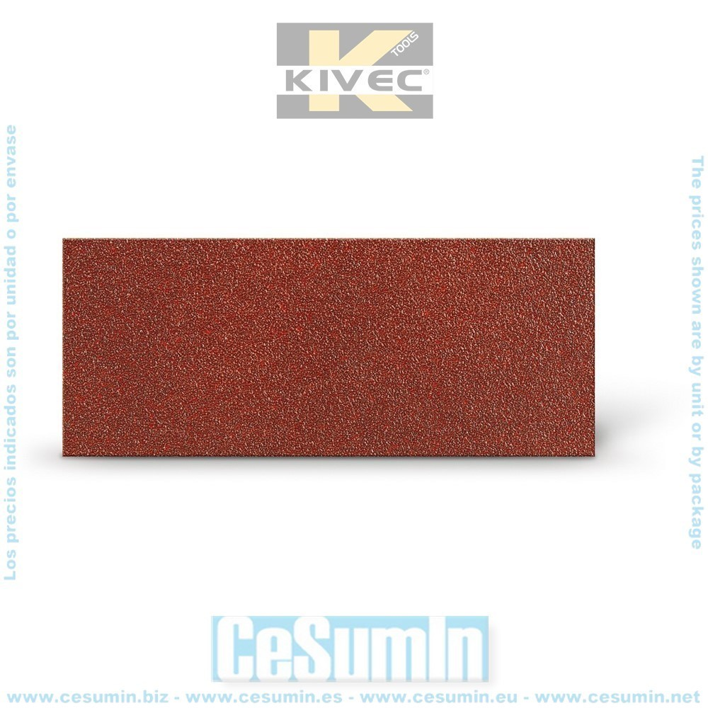 KIVEC IMP3135 - Lija abrasiva para lijadora 93x230 mm grano 180. Ciego Env. de 10 Uds.