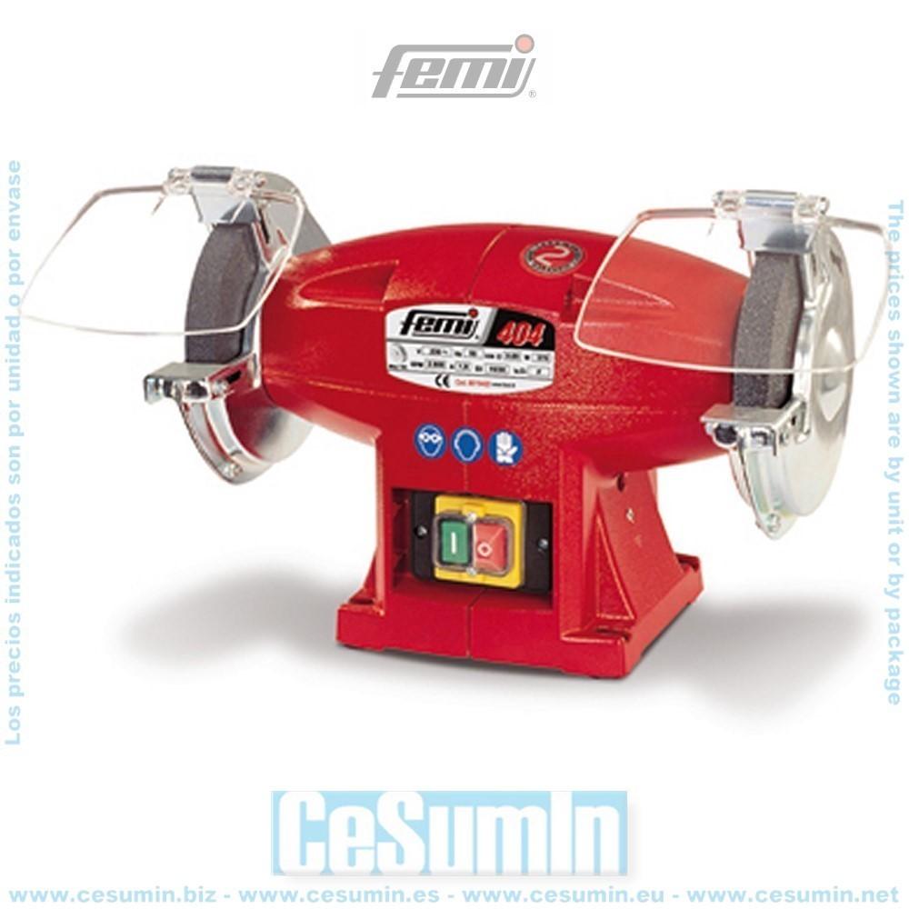FEMI FM-404 - Esmeriladora doble muela diametro 150 mm mf 370 w.