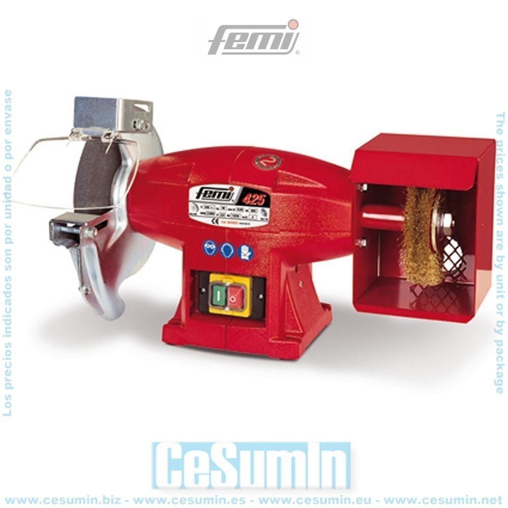 FEMI FM-425 - Esmeriladora combinada diametro 200 mm mf 500 w. -ce