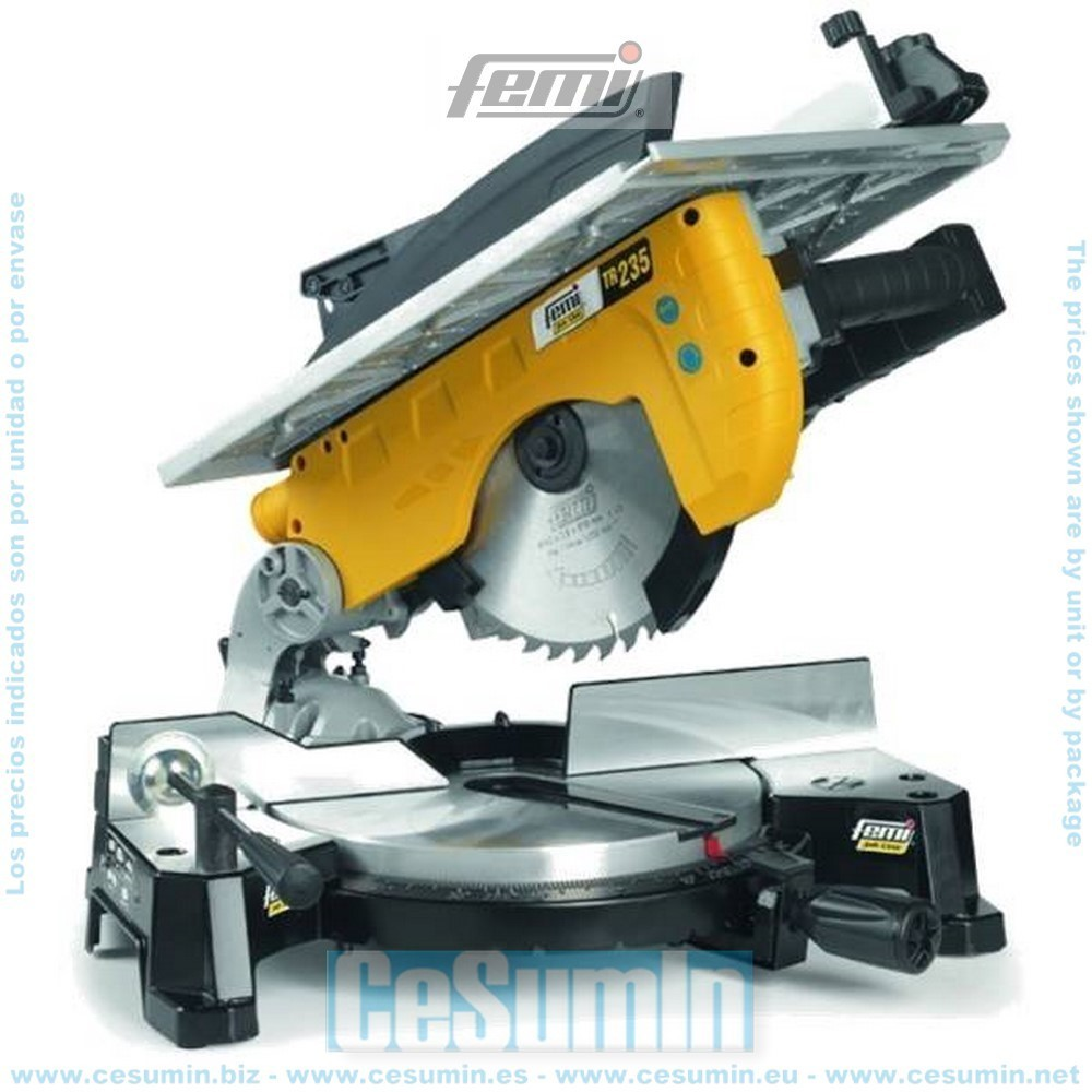FEMI FM-TR235 - Tronzadora para madera/Aluminio - diametro 250 - con mesa - 1800 W.