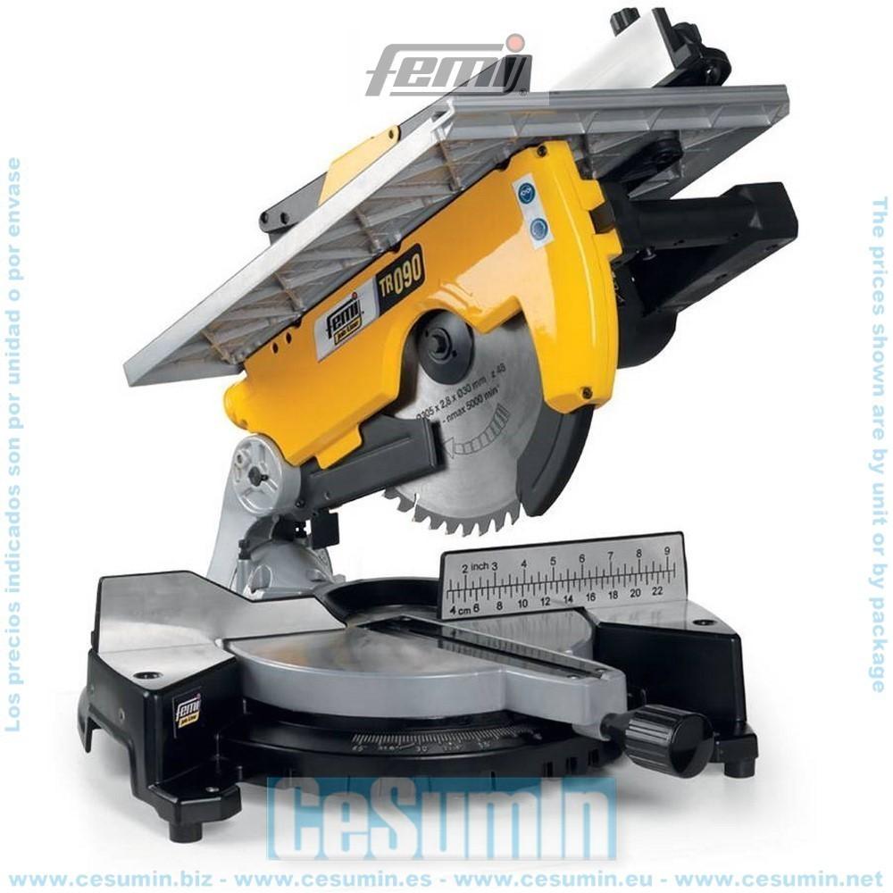 FEMI FM-TR090 - Ingletadora para madera/Aluminio - diametro 305 - con mesa - 2000 W.