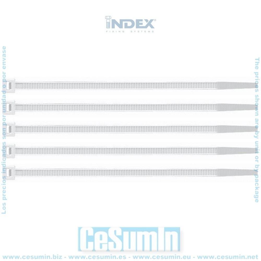 2,5 x 80, 100 uds. Negra Index 184 BN25080 Index BN25080-Bridas de Nylon