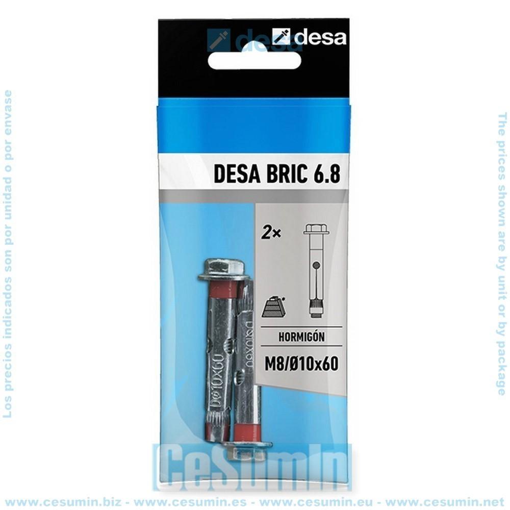 DESA QD100250 - Blister desa bric 6.8 m6/8x45 - 2 uds