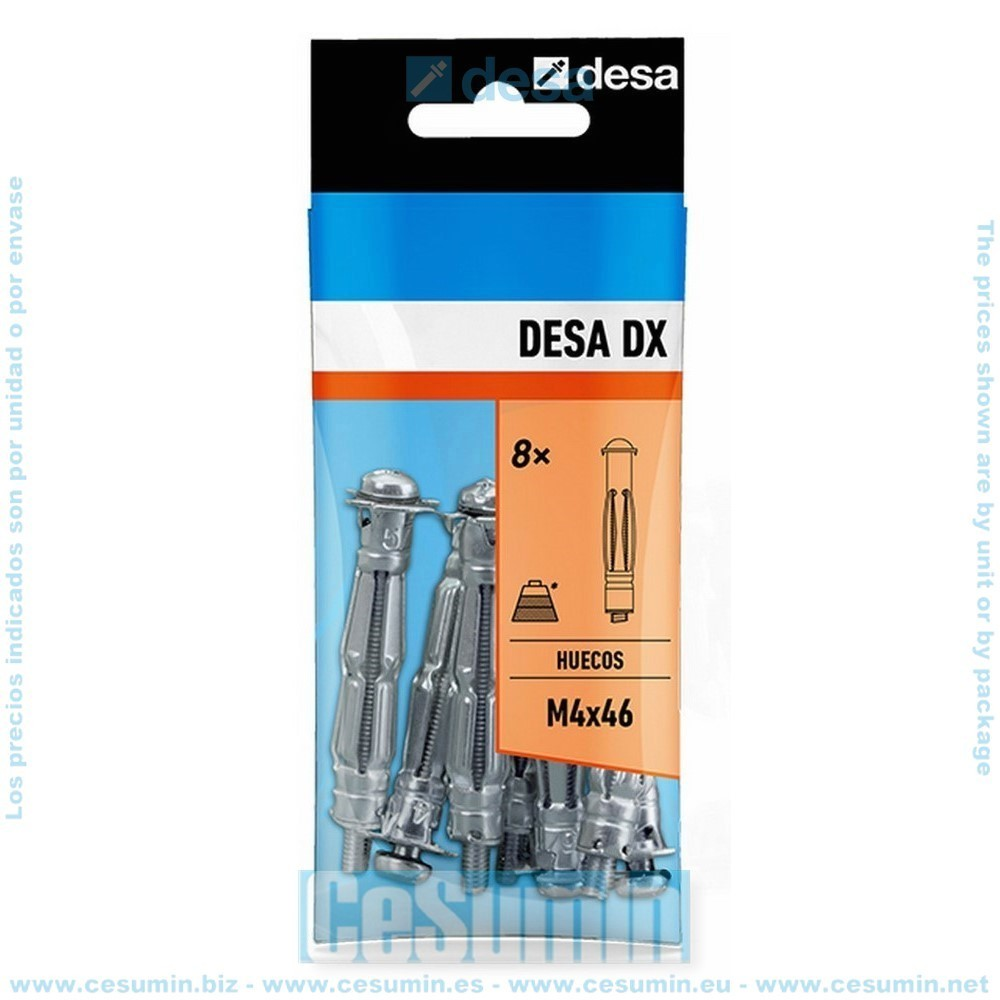 DESA QD161300 - Blister desa dx m6x63 - 2 uds