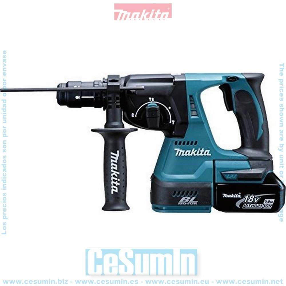MAKITA DHR243RTJ - Martillo ligero 24mm 18v litio 5.0ah makpac