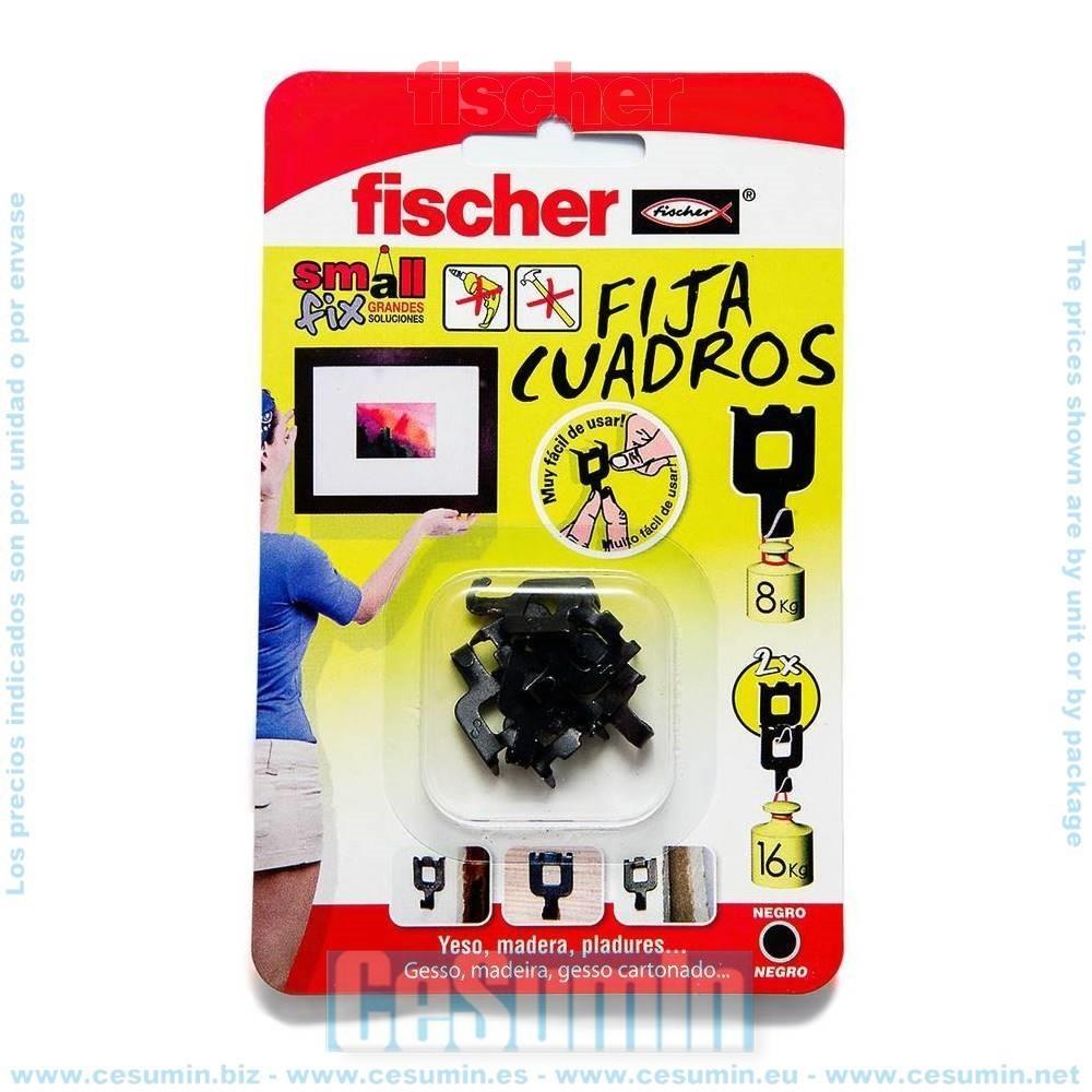 Fischer 518168 Blister fijacuadros negro