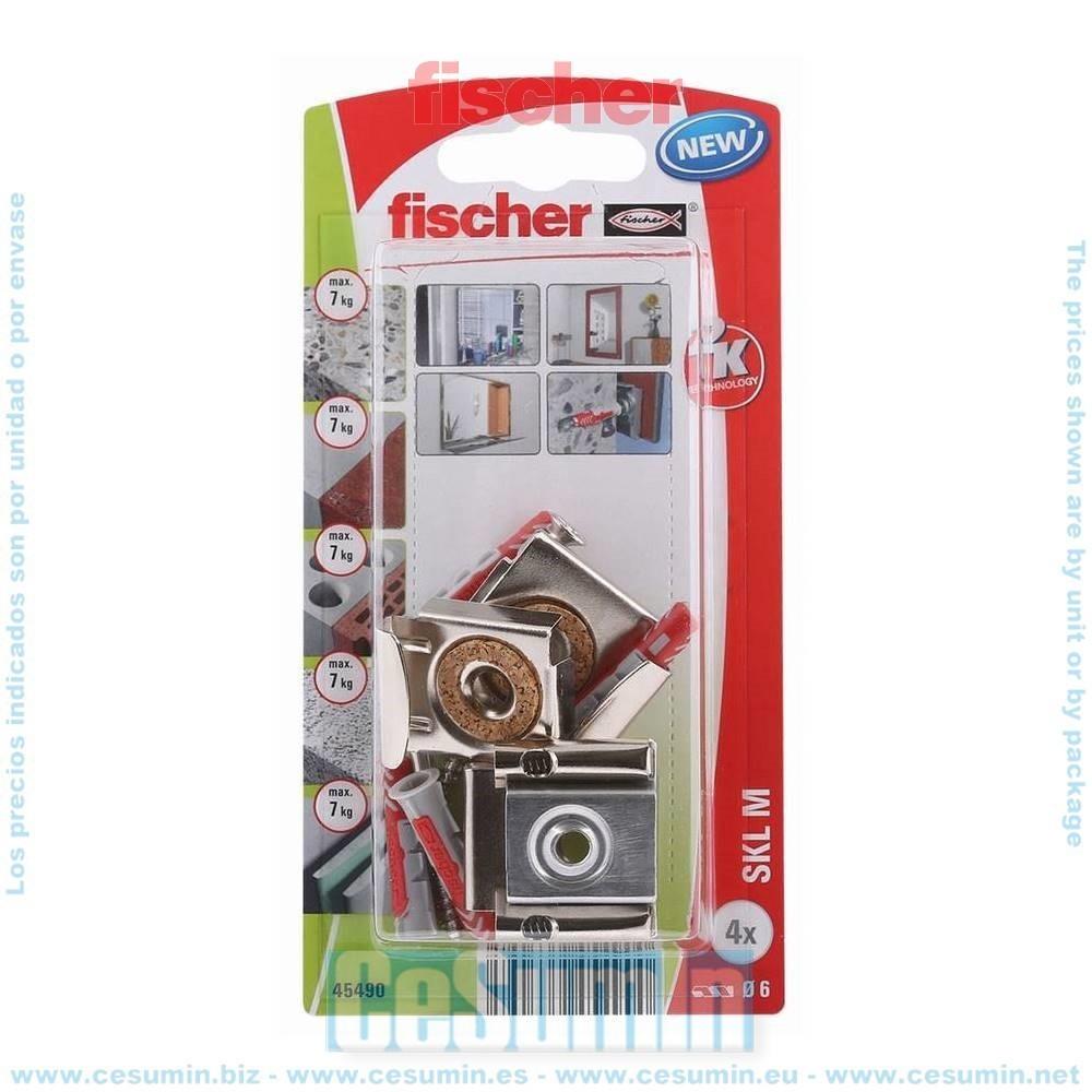 Fischer 045490 Blister sistema anclaje espejos SKL-M K NV