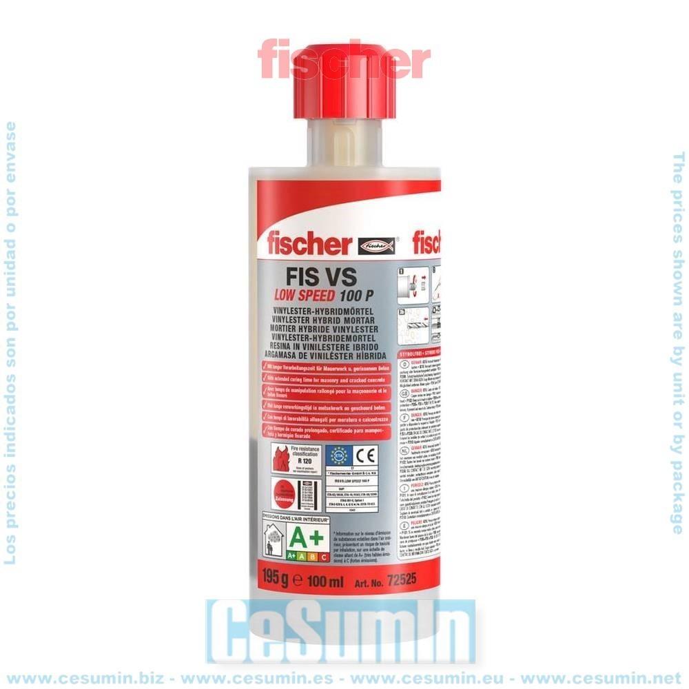 Fischer 072525 Anclaje químico altas prestaciones FIS VS 100 P