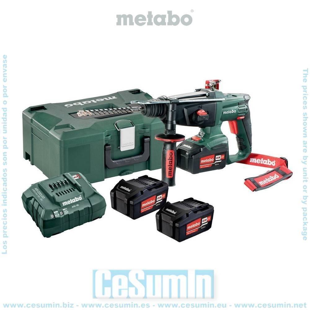 Metabo 600210960 Martillo combinado SDS Plus a bateria 18V 3x 4Ah Li-Ion KHA 18 LTX Con maletín