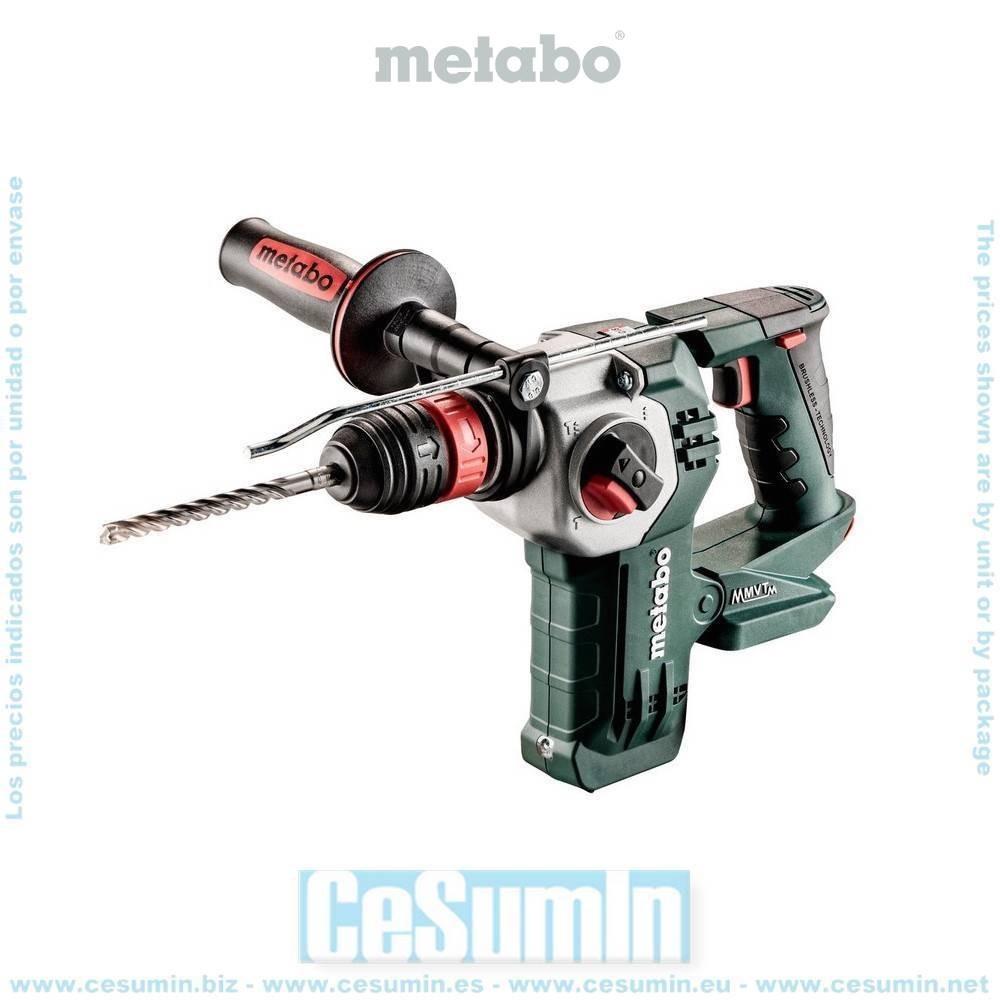 Metabo 600211840 Martillo ligero SDS Plus sin escobillas a bateria 18V Li-Ion KHA 18 LTX BL 24 Quick Maletín MetaLoc