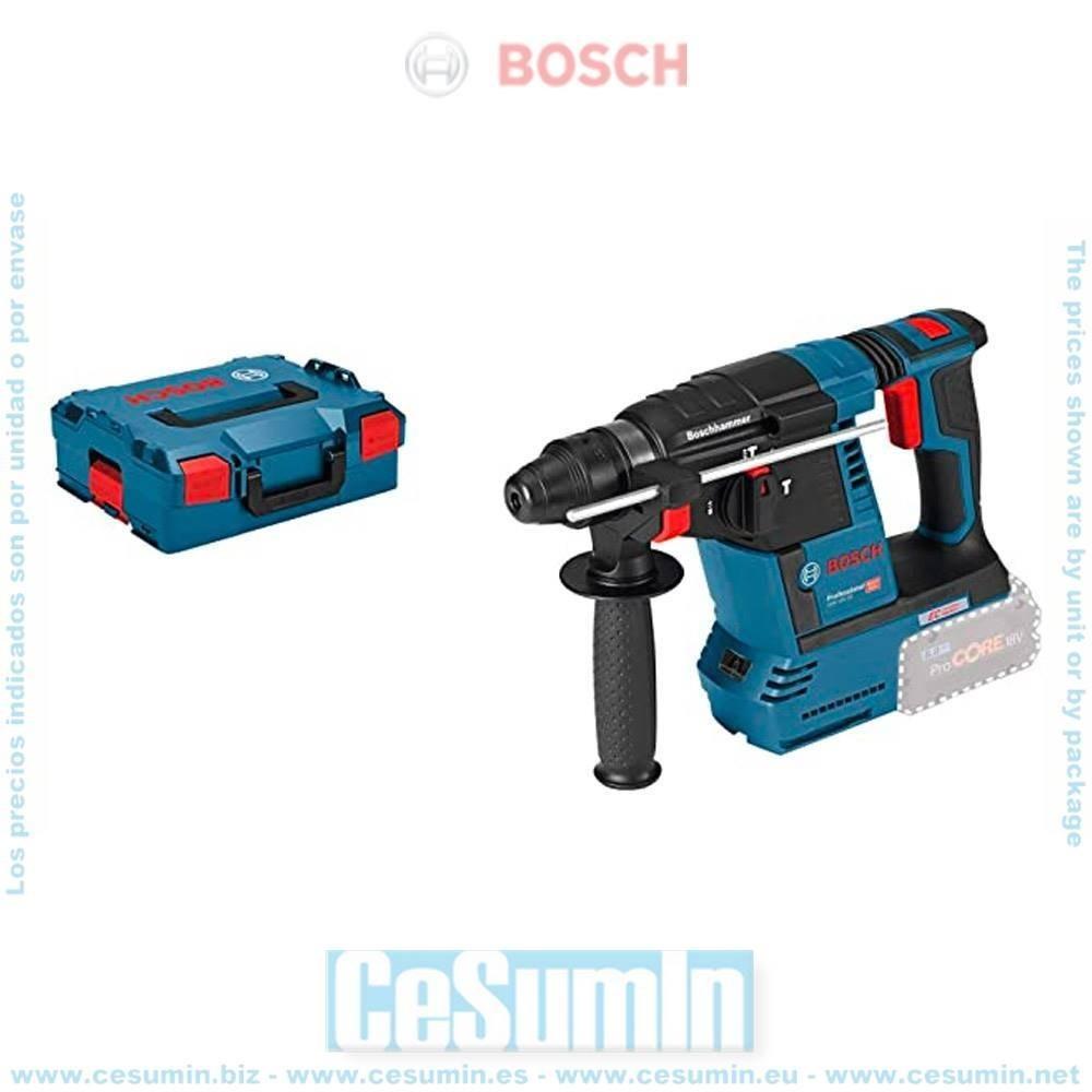 Bosch 0611909001 Martillo perforador a batería GBH 18V-26 SDS Plus MOTOR EC EMP KickBack + L-Boxx sin batería ni cargador