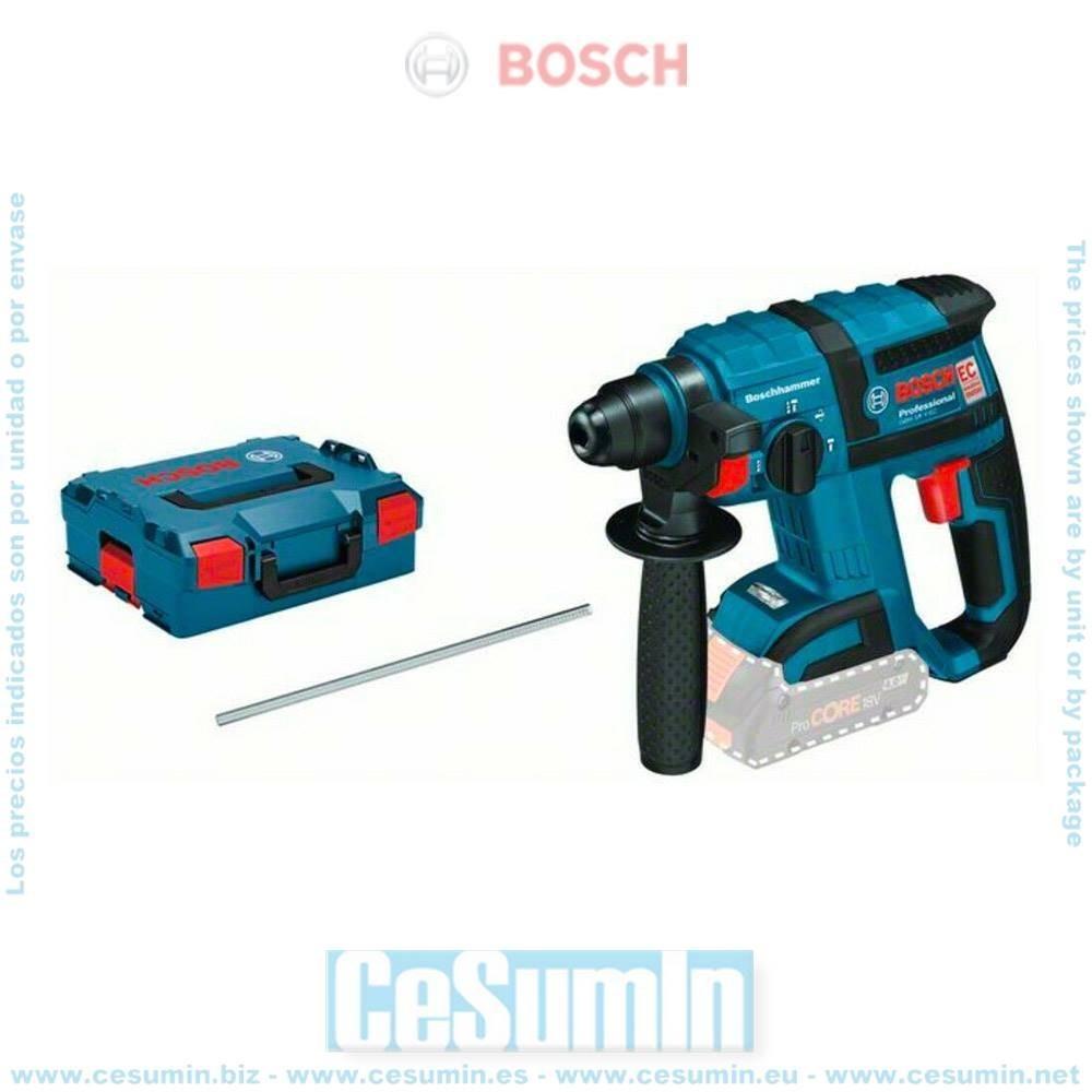 Bosch 0611904003 Martillo perforador a batería GBH 18V-EC SDS Plus MOTOR EC 1,7J Dm max sin batería ni cargador